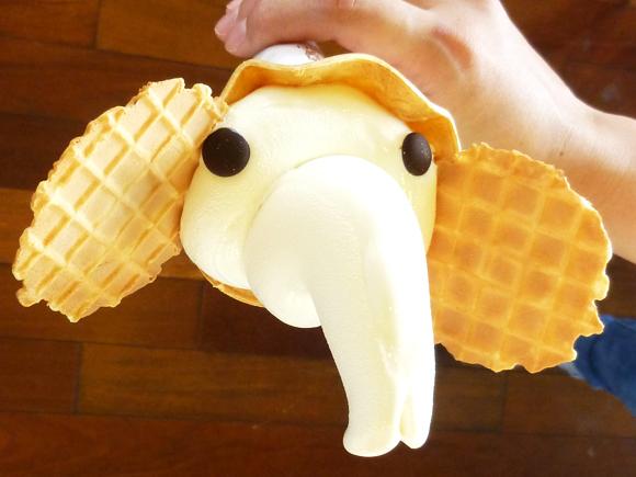ゾウノハナソフトクリーム